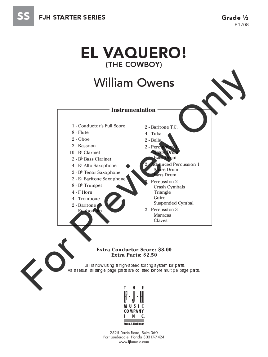 El Vaquero! by William Owens| J.W. Pepper Sheet Music