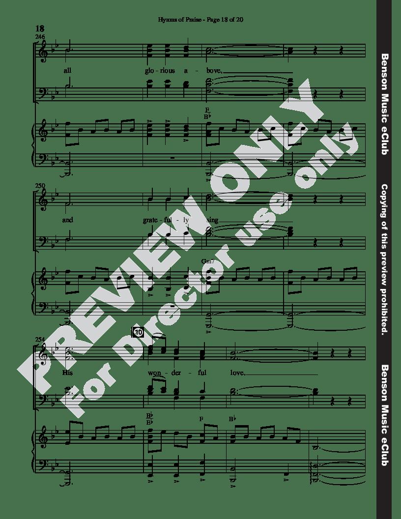 Hymns of Praise (SATB ) by Bradley Knight  J.W. Pepper
