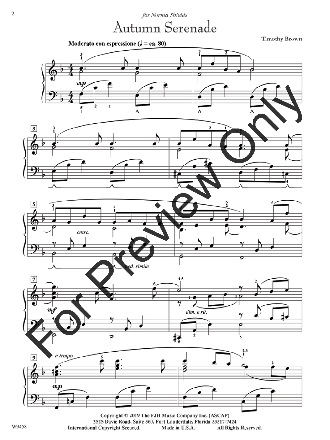 Autumn Serenade by Timothy Brown| J.W. Pepper Sheet Music