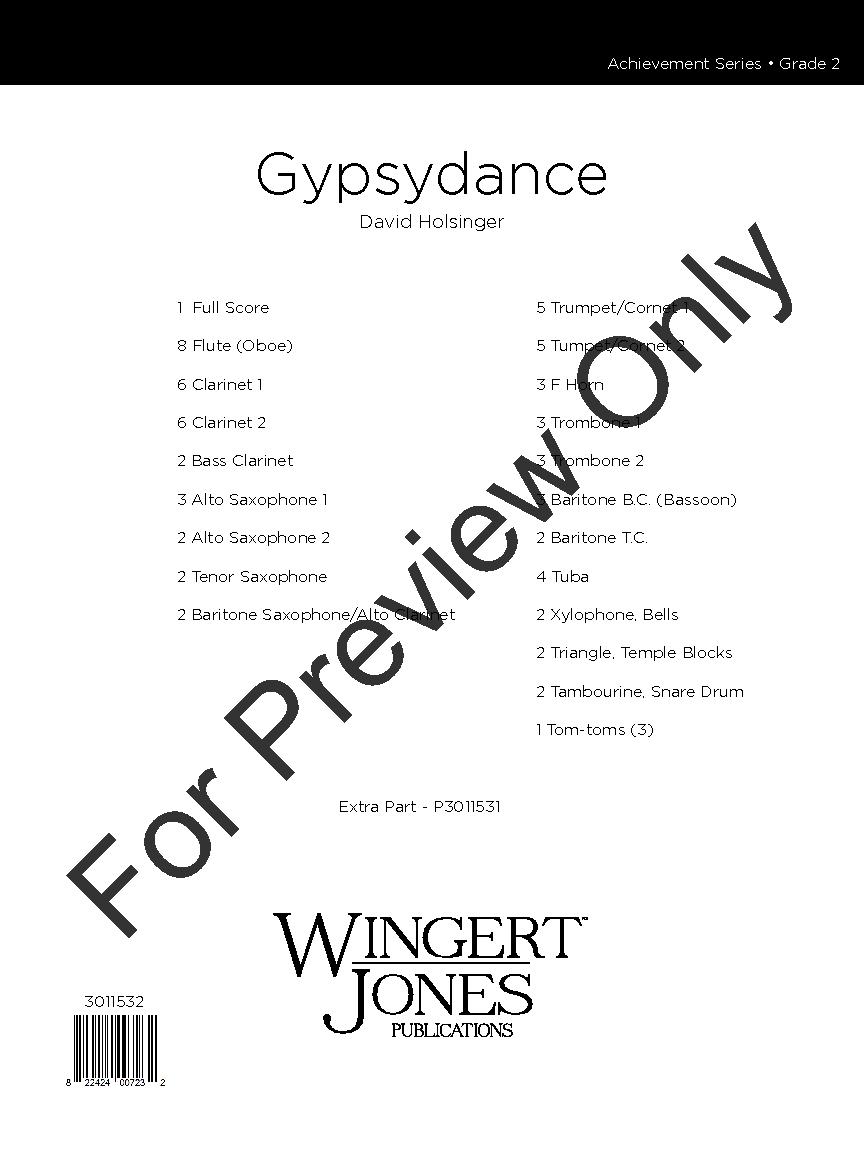 Gypsydance by David Holsinger| J.W. Pepper Sheet Music