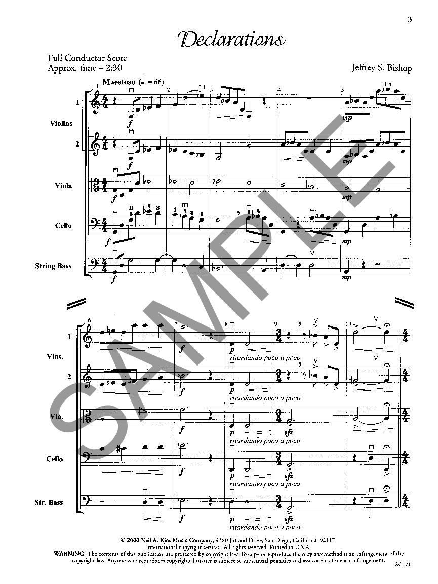 Declarations by Jeffrey Bishop  J.W. Pepper Sheet Music