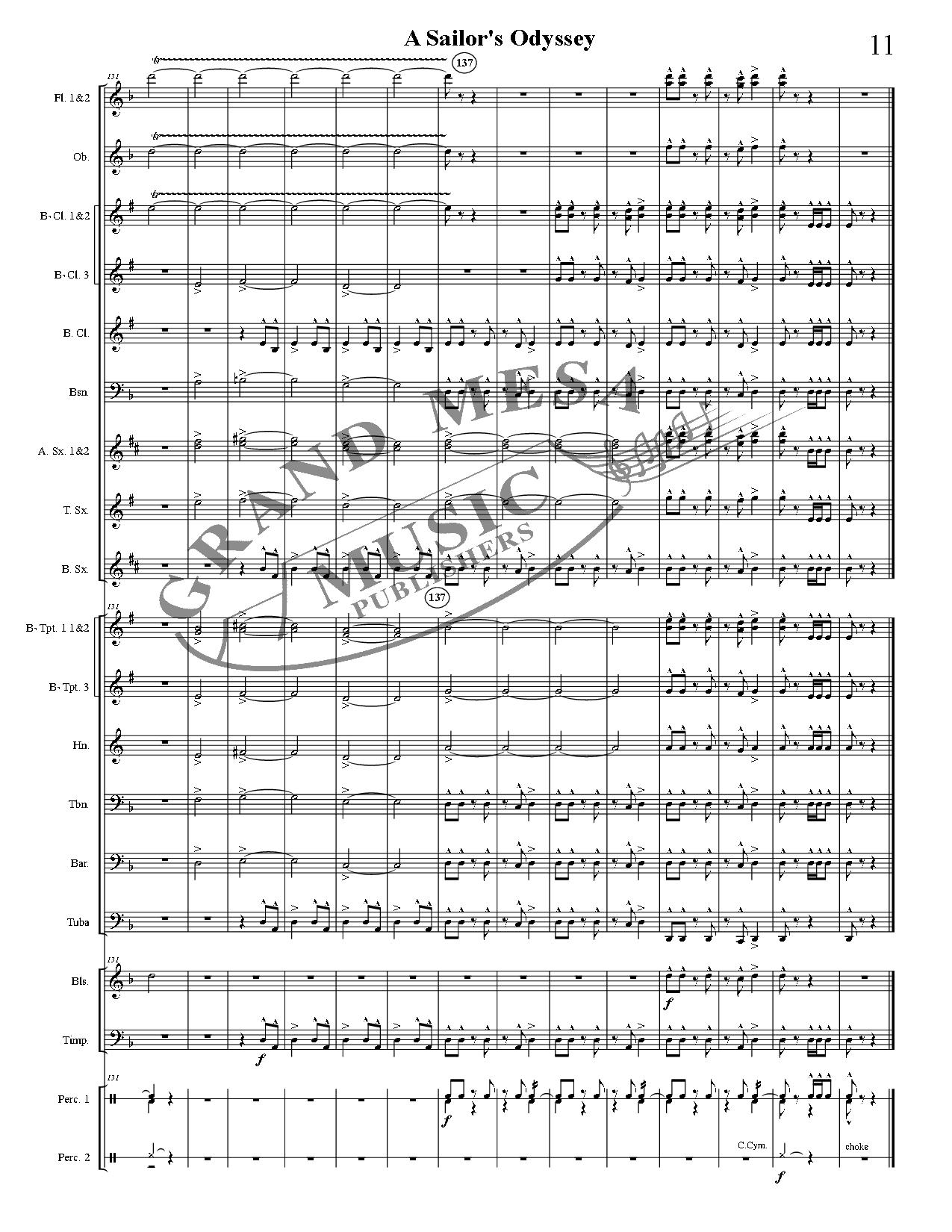 A Sailor's Odyssey arr. David Bobrowitz| J.W. Pepper Sheet