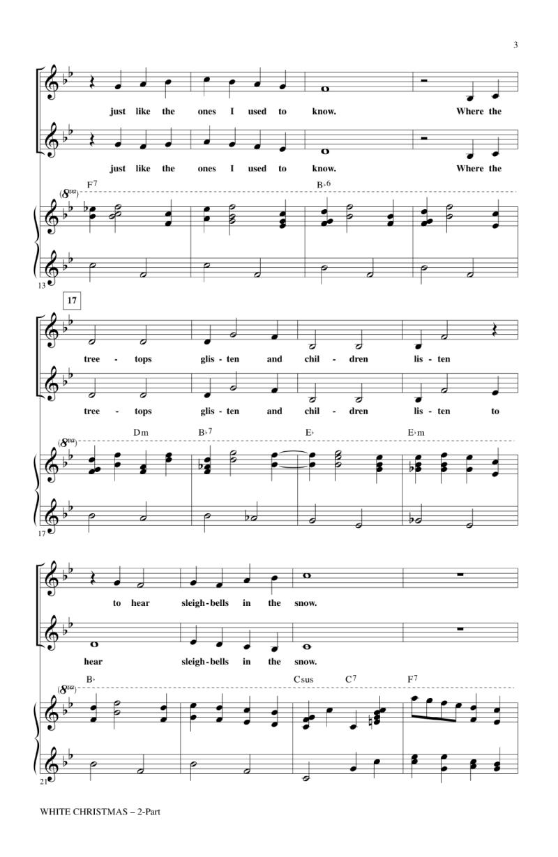 Im Dreaming Of A White Christmas Piano Sheet Music Free ...