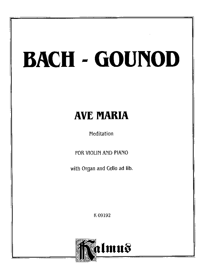 AVE MARIA (Violin Solo ) by BACH-GOUNOD| J.W. Pepper Sheet