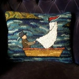 Rufus Porter Schooner Pillow