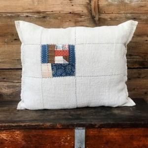 Modern Farmhouse Boro Stitched Pillow