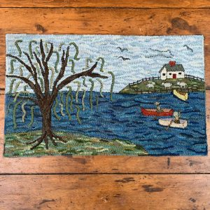 The Sneezing Willow Hooked Rug