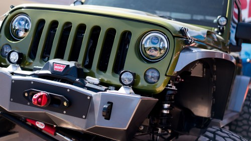 small resolution of at the vendor show we debuted two new exciting products our model 4418 auxiliary light and our model 8700 evo 2r headlight for the jeep renegade