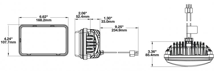 truck lite led headlight wiring diagram 2 pickup heated headlights model 8800 evolution dimensions