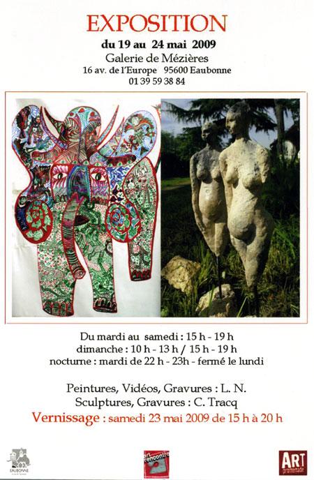 Expo L.N. et Claude Tracq à la Galerie de Mézières à Eaubonne Val d'Oise