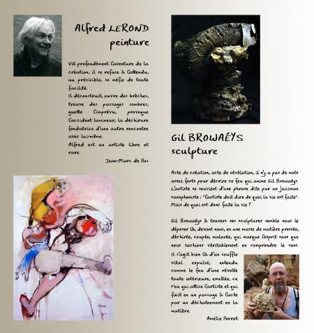 """""""lezarts en fête"""" 2009 verso pages 2 et 3"""
