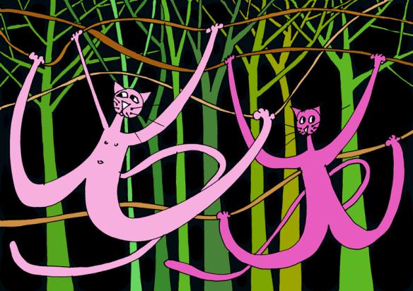 chats dans les lianes