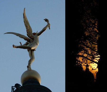 l'ange de la bastille et le panthéon