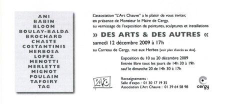 """Art Chauve invitation exposition """"DES ARTS ET DES AUTRES"""""""