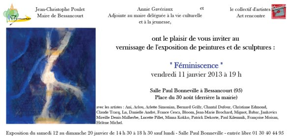"Invitation Vernissage Exposition ""Féminiscence"""
