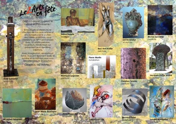 """""""LeZArts en fête"""" les 10 ans - œuvres des 15 artistes"""