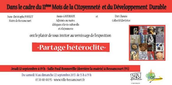 """invitation """"Partage hétéroclite"""""""