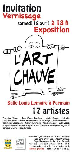 invitation l'Art Chauve à Parmain