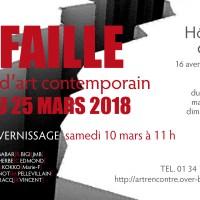"""invitation EXPOSITION ART RENCONTRE """"LA FAILLE"""" Hôtel et Galerie de Mézières EAUBONNE"""