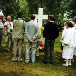 Konsta Jylhän haudalla Kaustisella 1995.