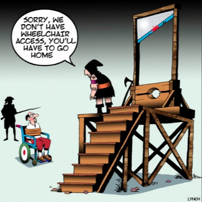 recovery, liberty, fraternity - no access wheelchair