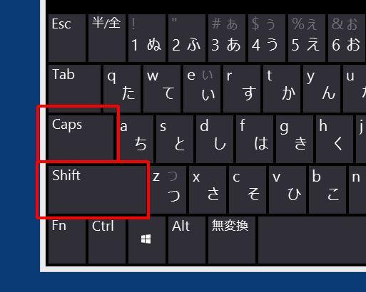 小文字 キーボード 切り替え 大文字 大文字と小文字