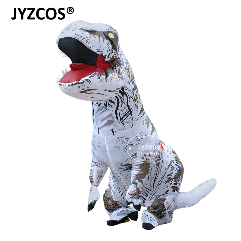 jyzcos adults t rex inflatable dinosaur costume halloween
