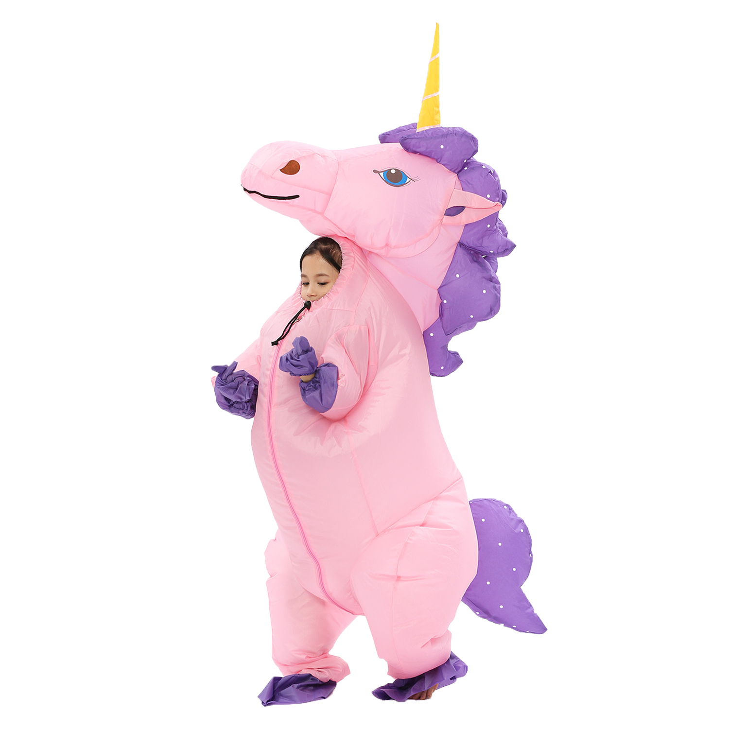 1b3555e70c740 New Adult Kids Inflatable Unicorn Costume Pony Halloween Costumes for Women  Men Cosplay Fantasia Party Inflatable Suit Jumpsuit