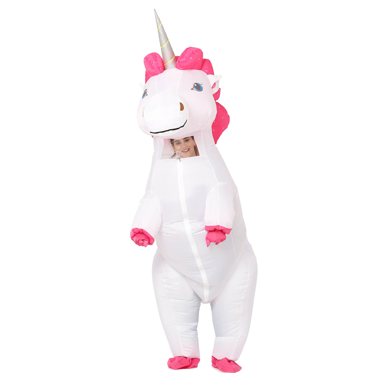 1d240f8eda88 New Adult Kids Inflatable Unicorn Costume Pony Halloween Costumes ...