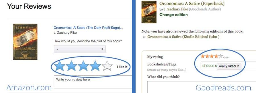 Amazon vs Goodreads