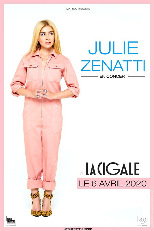 Affiche pour le concert à la Cigale le 6 avril 2020