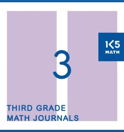 3rd Grade Math Journals [ 1043 x 1043 Pixel ]