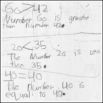 1st Grade Math Journal Gallery