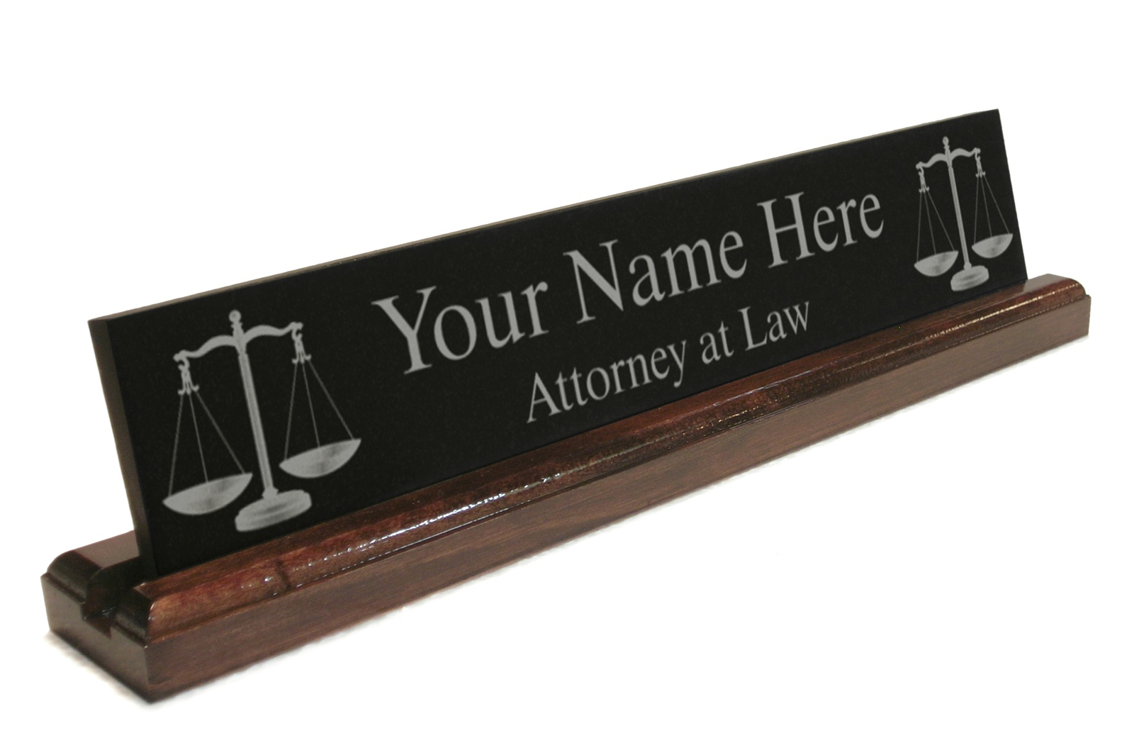 Personalized Attorney Lawyer Desk Name Plate Custom