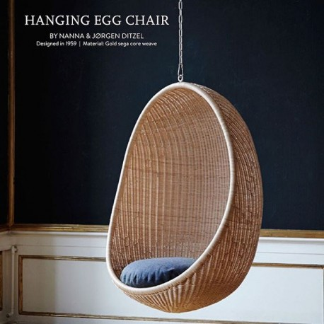 Chaise suspendue EGG Chair by SIKADESIGN