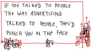 Cartoon Gapingvoid Advertising