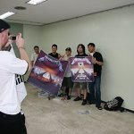 Some fans of Metallica and me taking a photo