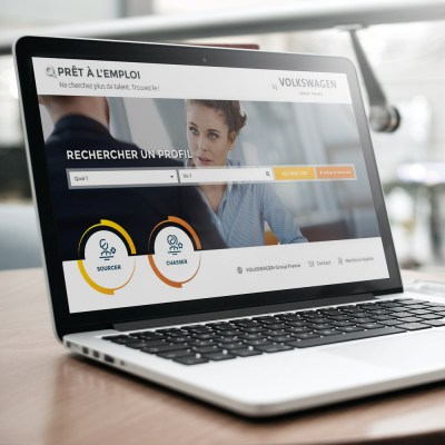 """Webdesign de l'application """"Prêt à l'emploi"""" pour """"Volkswagen Group France"""""""