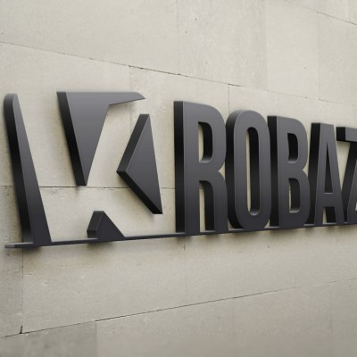 Mockup logo 3D K-ROBAZ
