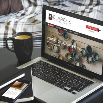 """Webdesign et intégration du site internet """"Delarche Peinture"""""""