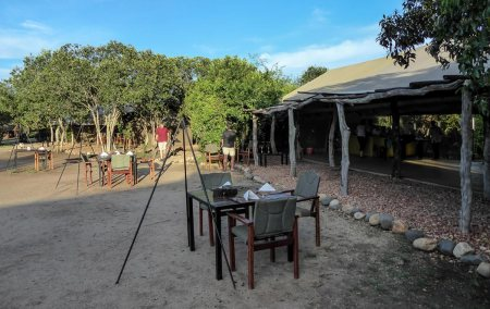 the Bush Lodge in Queen Elizabeth Park Uganda