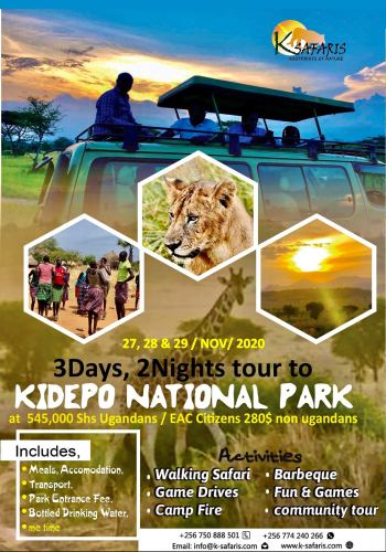 Kidepo Adventures tour activities in Uganda