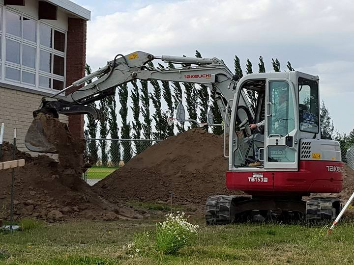 We provide several construction services such as demolition, excavation and grading and we also provide landscaping as well