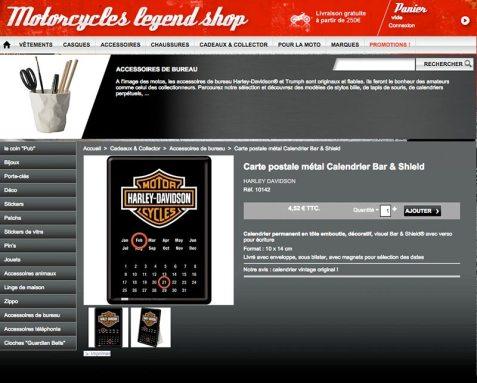 Boutique en ligne Harley Davidson