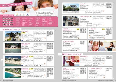 Brochure hébergements Fouesnant Les Glénan