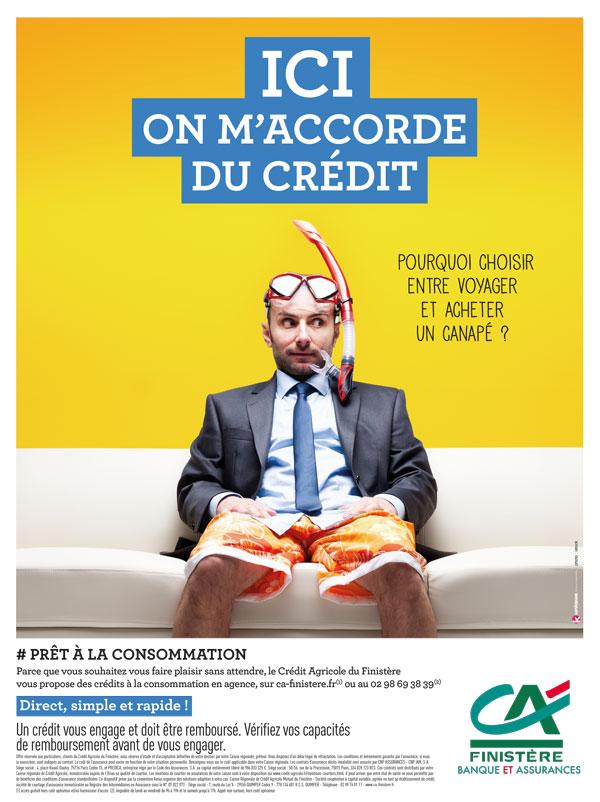 Campagne d'affichage pour le Crédit Agricole