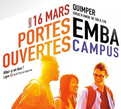 Affiche des Portes ouvertes à l'EMBA de Quimper