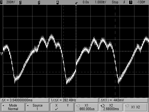 Escape alternator noise 12V at radio - higher revs