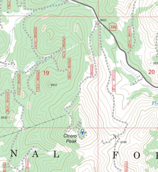 Cicero Peak map