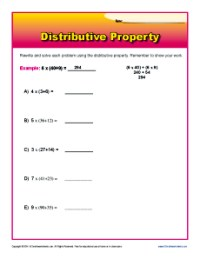 Worksheets For Distributive Property